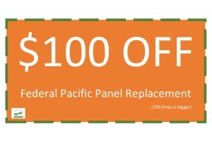 $100 OFF Federal Pacific Panel Replacement