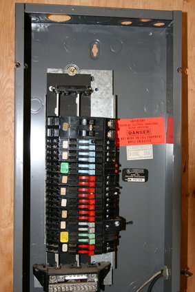 Closeup of Zinsco electrical panel