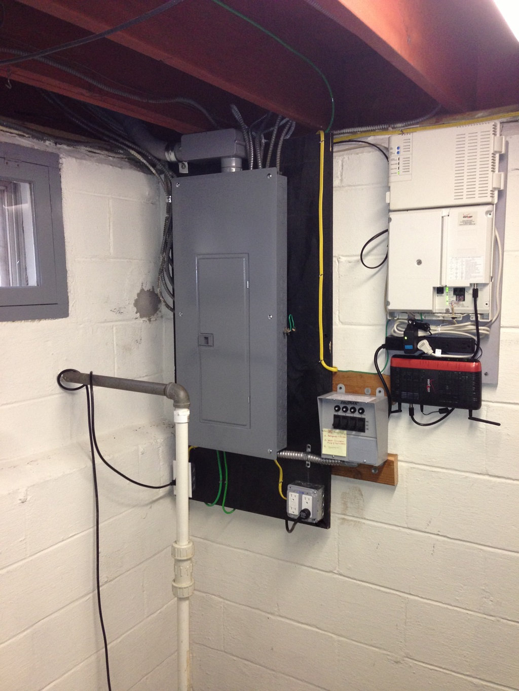 transfer switch installs central nj first class electric new panel and 4 circuit manual transfer switch for portable generator