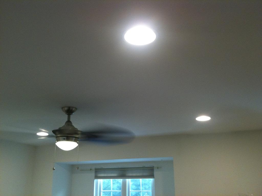 Ceiling fan installs central nj westfieldunionclark ceiling fan in sun room recessed lights and ceiling fan lightspin aloadofball Choice Image